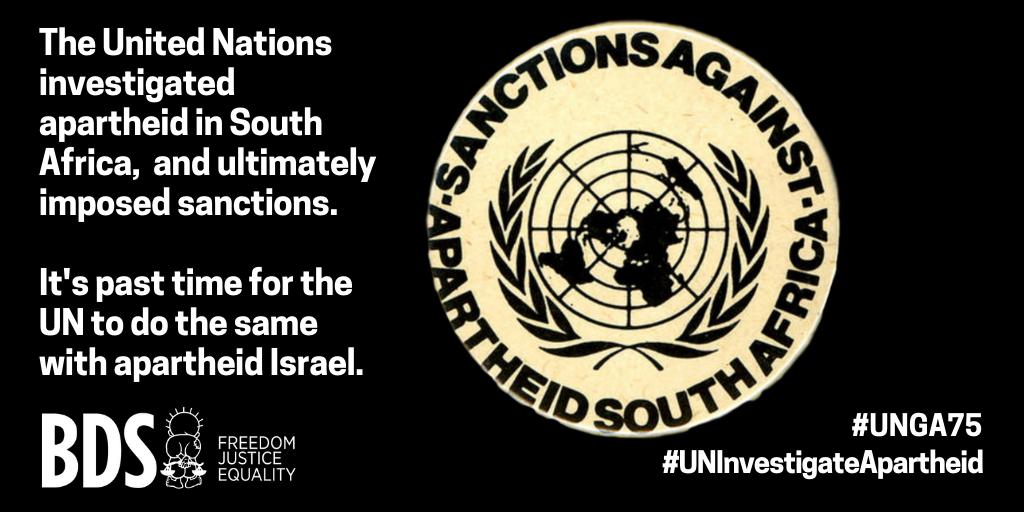 452 kansalaisjärjestöä ja kattojärjestöä vaatii YK:n yleiskokousta ja jäsenvaltioita tutkimaan Israelin apartheid-järjestelmää, lopettamaan asekaupan ja kieltämään siirtokuntatuotteiden tuonnon.